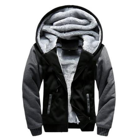 Winter Men Hooded Outwear Jacket Swearshirt