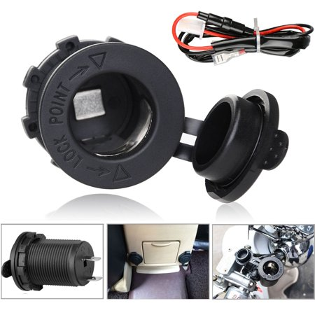 Waterproof 12V Boat Motorcycle Car Cigarette Lighter Socket Power Plug (12v Ac Car Lighter)