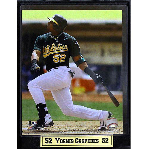 MLB Yoenis Cespedes Photo Plaque, 9x12