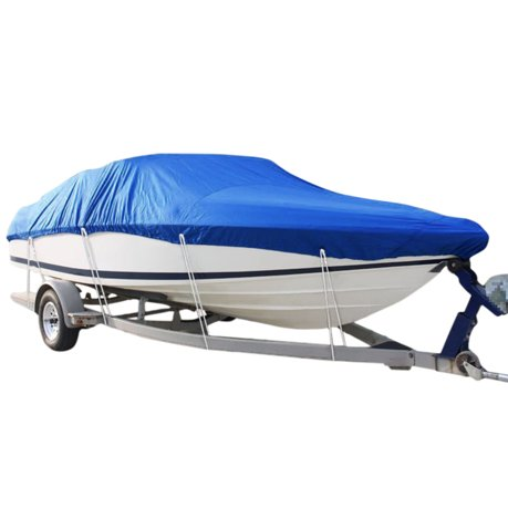 14 16ft 210d trailerable boat cover waterproof fishing v for Walmart fishing boats