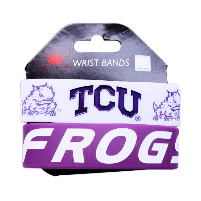 Aminco TCU Horned Frogs Rubber Wrist Band (Set of 2) NCAA