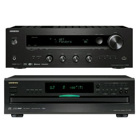 Onkyo TX8140 Stereo Receiver & Onkyo DXC390 6-Disc Carousel CD Player by Onkyo