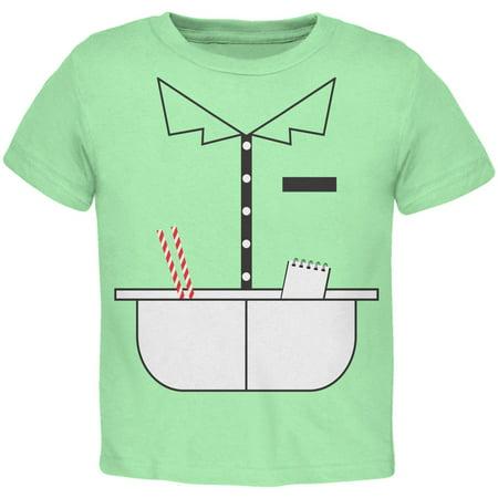 Halloween 50's Diner Waitress Mint Green Toddler T-Shirt - Halloween Waitress