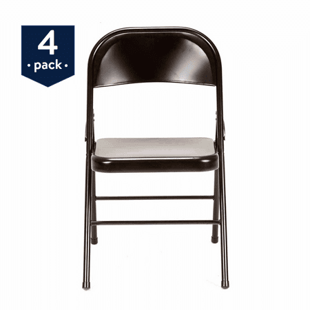 - Mainstays Steel Folding Chair (4-Pack) in Multiple Colors
