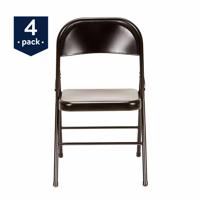 Mainstays Steel Folding Chair (4-Pack), Black