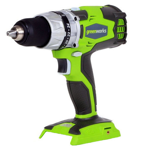 Greenworks 24V Lithium-Ion Compact Drill, Battery Not Included 32032A