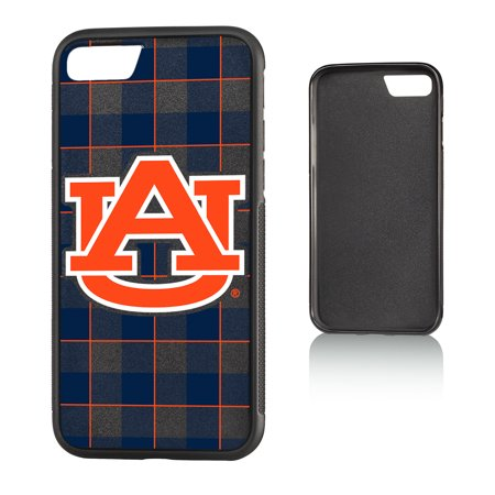 AU Auburn Tigers Plaid Bump Case for iPhone 8 / 7 Auburn Tigers Cell Phone Case
