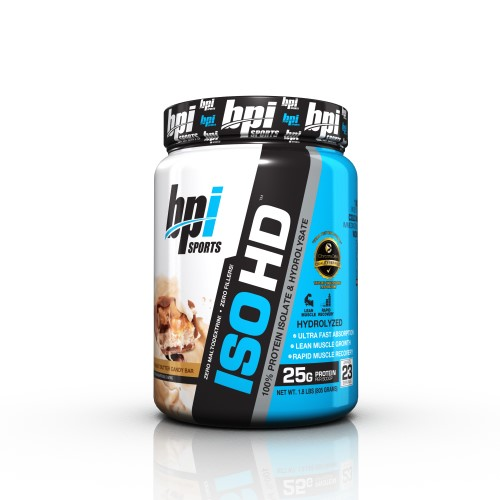 BPI Sports ISO HD 100% Protein Isolate & Hydrolysate, Peanut Butter Candy Bar, 5.3 Lb