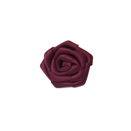 Jacob Alexander Satin Open Rose Lapel Flower Boutonniere