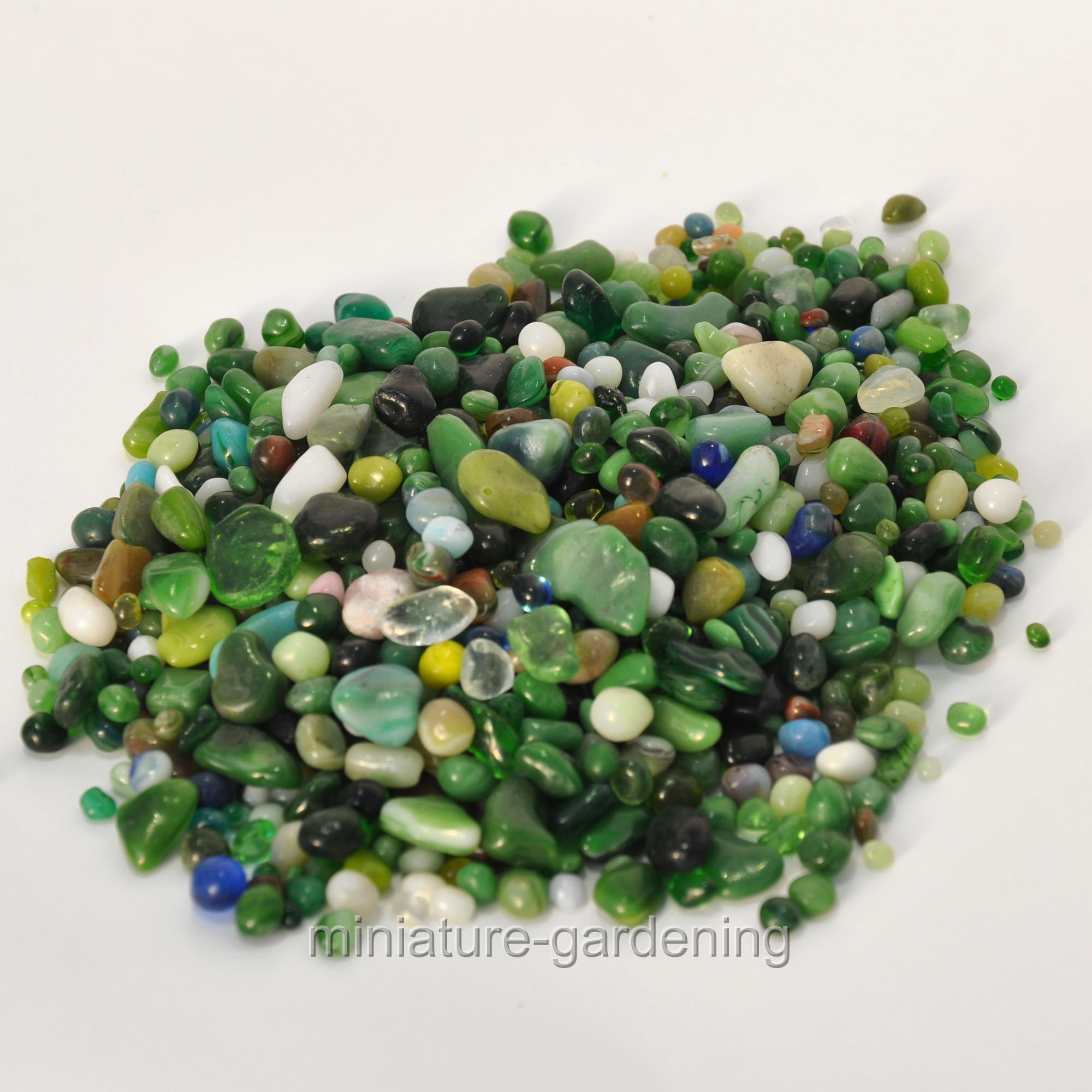 Accent Decor Forest Glass Pebbles for Miniature Garden, Fairy Garden by Accent Decor, Inc.