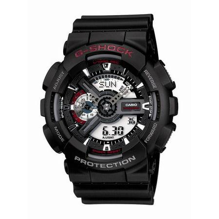 Casio Men's XL Series G-Shock Quartz 200M WR Shock Resistant Resin Color: Black (Model GA110-1ACR) ()
