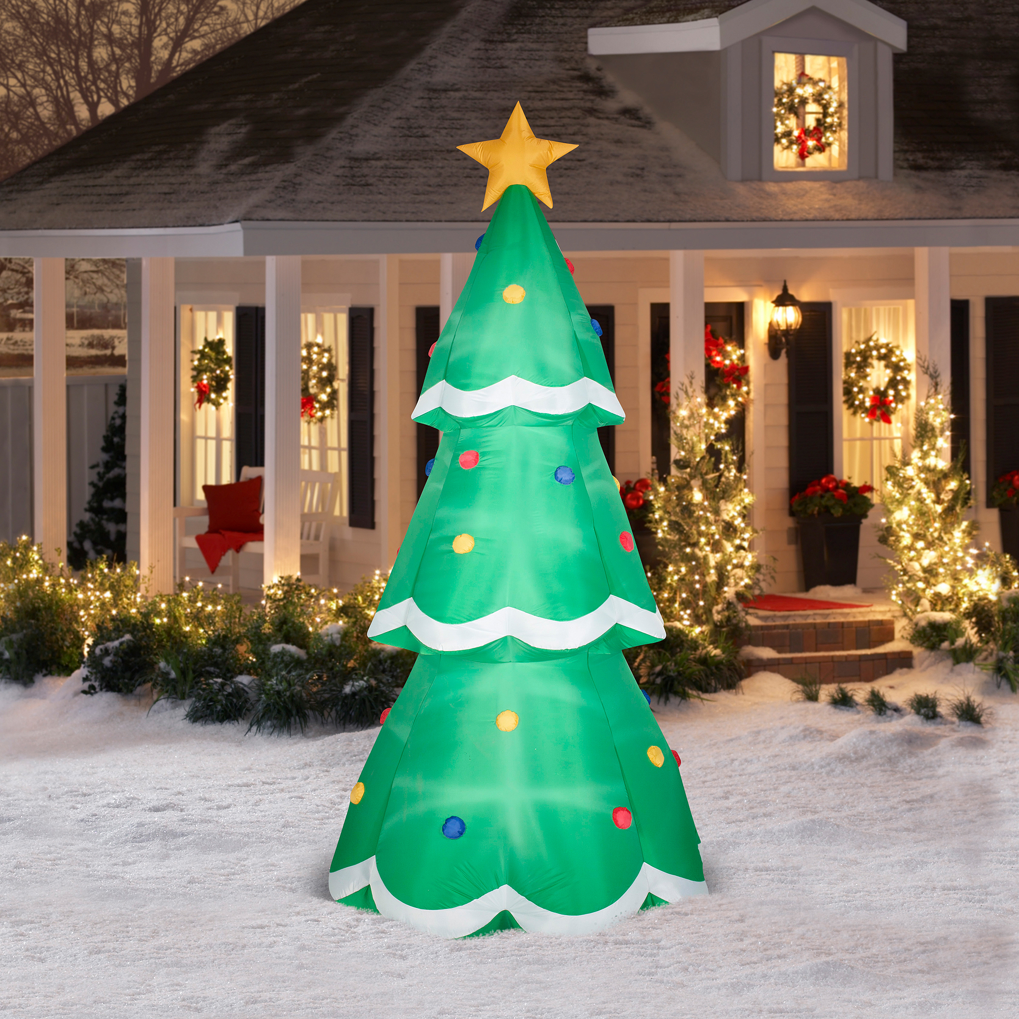 10' Giant Christmas Tree Airblown Inflatable Christmas Prop