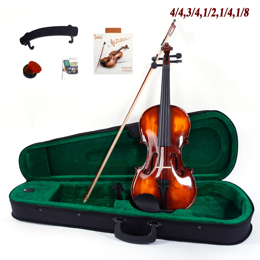 Ktaxon 4/4,3/4,1/2,1/4,1/8 Beginner Classic Solid Wood Violin Pack With Box And More