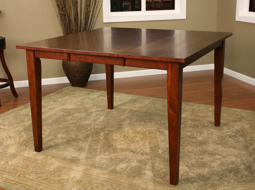 American Heritage Este 54 Inch Butterfly Counter Height Dining Table In  Suede