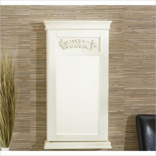 Holly & Martin Juliette Wall-Mount Jewelry Armoire in Antique White