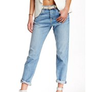 7 For All Mankind NEW Blue Women's Size 28X29 Cropped Boyfriend Jeans $215