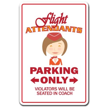 FLIGHT ATTENDANTS Aluminum Sign hostess stewardess airline fly airport layover | Indoor/Outdoor | 14