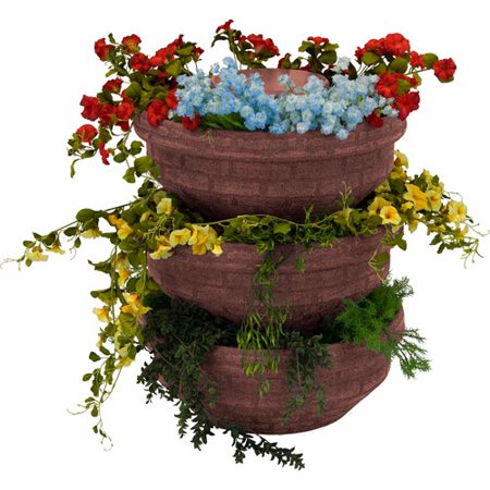 English Composting Garden, Red Brick, 3-Pack