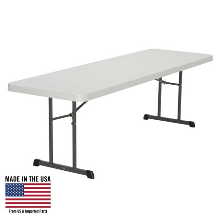 Lifetime 8-Foot Folding Table (Professional), Almond, 80250 - Pack Lifetime 6' Almond