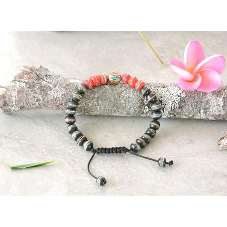 Tibetan Embedded Yak Bone Medicine Healing Wrist Mala for Meditation -