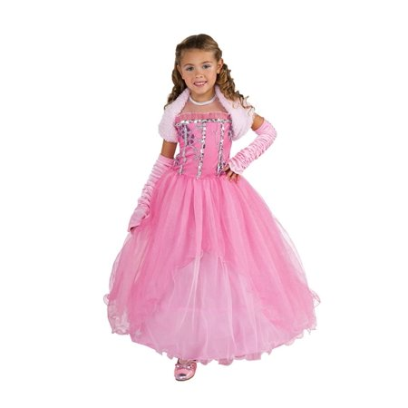 Shirley Of Hollywood Cotton Costume - Shirley Pink Princess Costume - Child Large