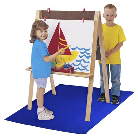School Specialty Art Easel Floor Mat, 42 x 59 Inches, Blue