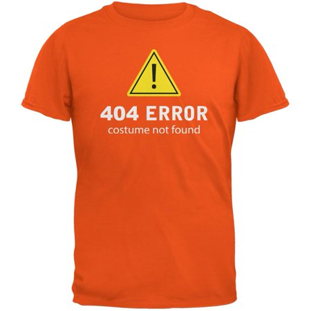 Halloween 404 Costume Not Found Orange Adult - 404 Halloween Costume Not Found