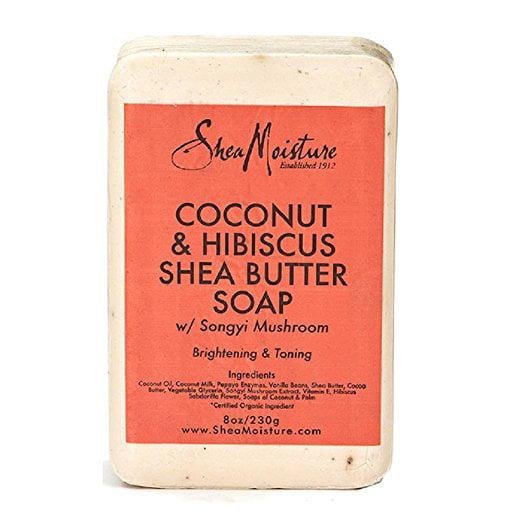 Shea Moisture Coconut & Hibiscus Shea Butter Soap, 8.0 Oz