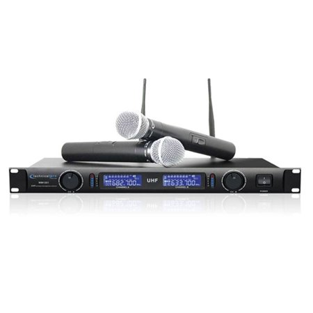 Technical Pro Professional UHF Dual Cord Free Microphone System- Black