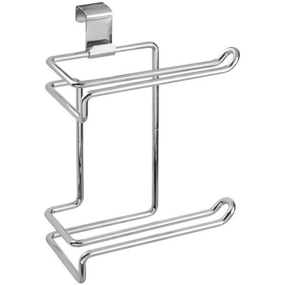 interdesign metalo over the tank toilet paper holder chrome. Black Bedroom Furniture Sets. Home Design Ideas