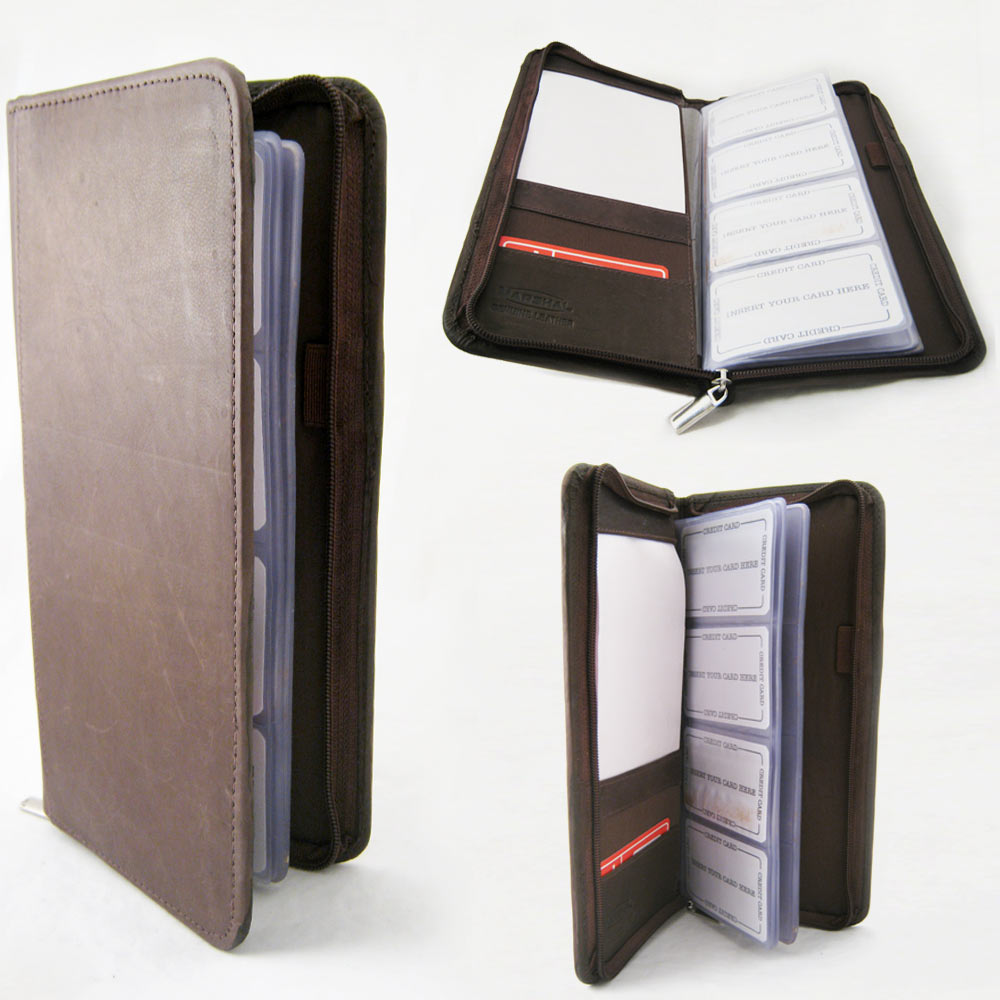 Genuine leather business card holder 160 cards organizer book ids genuine leather business card holder 160 cards organizer book ids cards brown walmart colourmoves