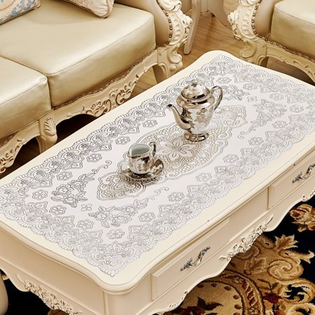 Simple Waterproof Rectangular Hollowing Anti-scald Table Cover - image 3 de 8