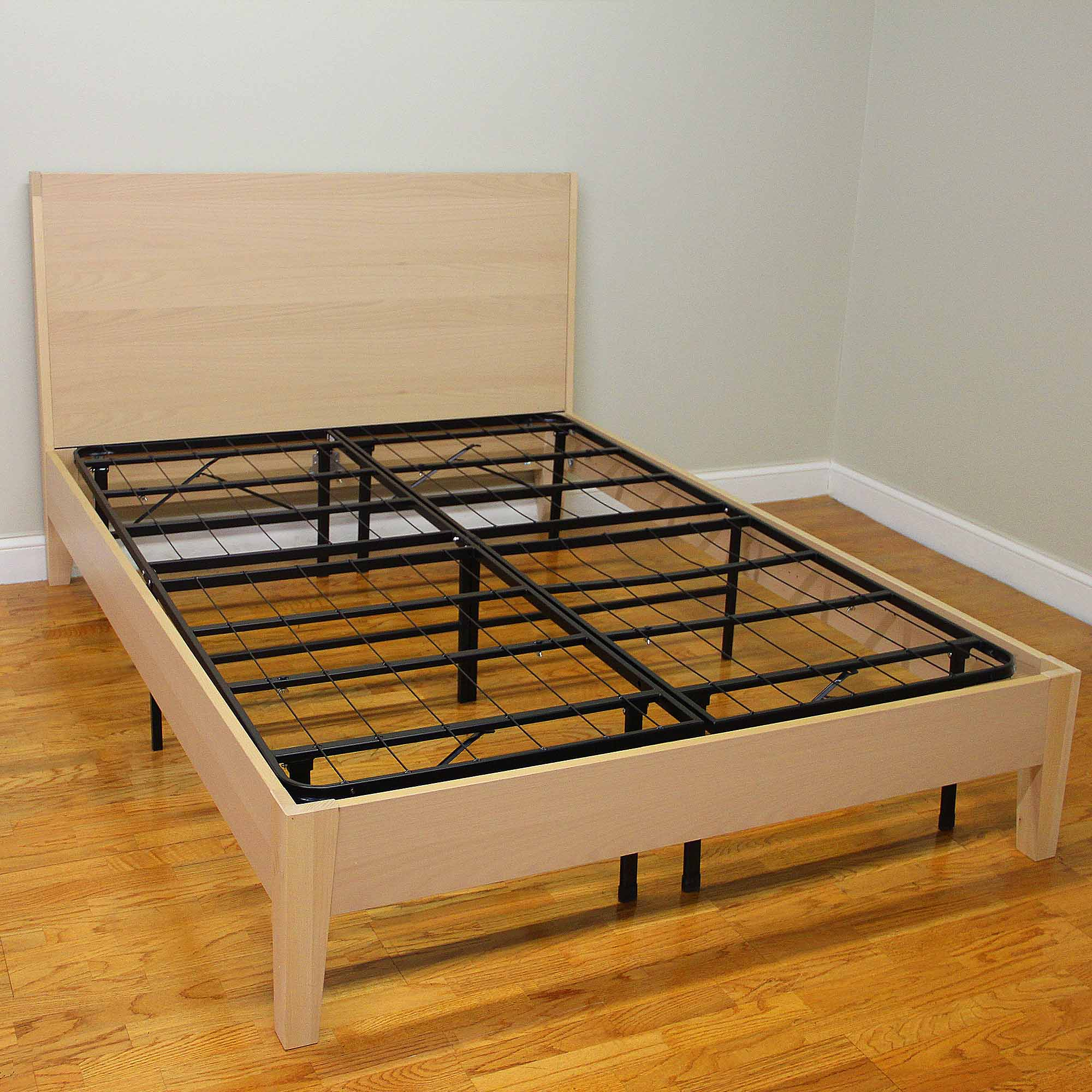 Modern Sleep Platform Metal Bed Frame Mattress Foundation - Walmart.com
