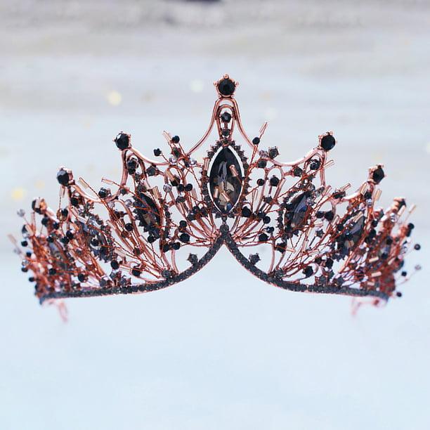 Wedding Bridal Tiara Flower Crystal Diadem Hair Accessories Princess Crown