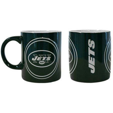 NFL New York Jets 14-Ounce Sculpted Warm Up Mug