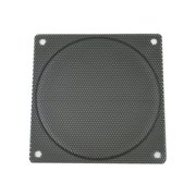 120mm black steel computer case fan mesh grill / guard / filter - small hole