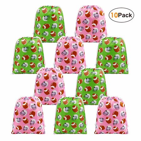 BeeGreen Football Party Supplies Favors Bags for Kids Boys and Girls, Drawstring Candy Bags for Birthday Party Gifts - Gift Bags For Girls