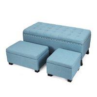 Excellent Darby Home Co Storage Ottomans Walmart Com Customarchery Wood Chair Design Ideas Customarcherynet