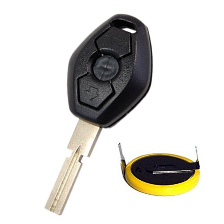 Hqrp Transmitter And Battery For Bmw 3 Series E46 1999 2000 2001 2002 2003 2004 2005 2006 99 00 01 02 03 04 05 06 Key Fob Remote Shell Case Cover