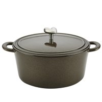 Ayesha 5.5-Qrt Curry Cast Iron Covered Round Casserole (Brown Sugar)
