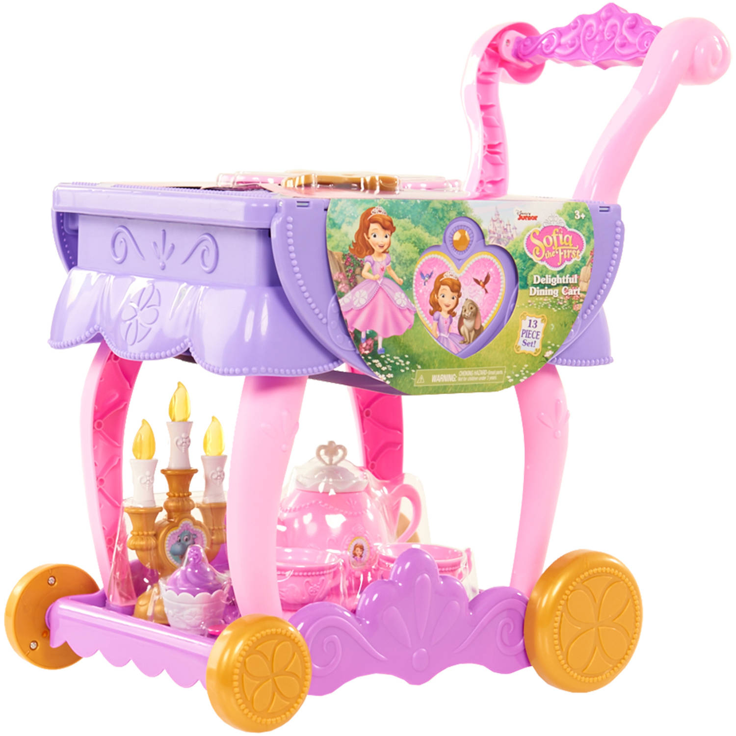 Disney Sofia The First 13 Piece Delightful Dining Cart