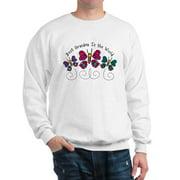 CafePress - Butterfly Best Grandma - Crew Neck Sweatshirt