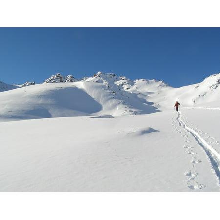 LAMINATED POSTER Alpine Ski Backcountry Skiiing Touring Skis Poster Print 24 x