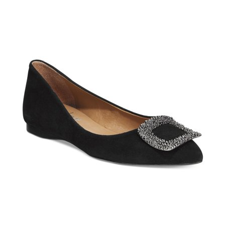 French Sole Womens POSH Suede Closed Toe Ballet Flats ()