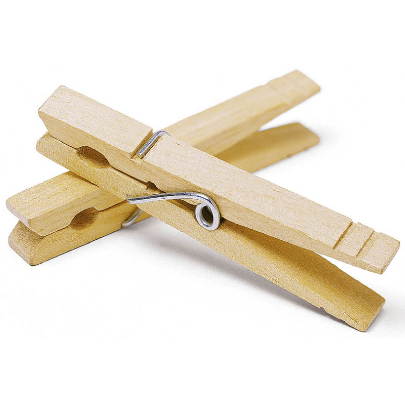 Whitmor 6026-855 Wood Wire Spring Clothespins, 50 Count