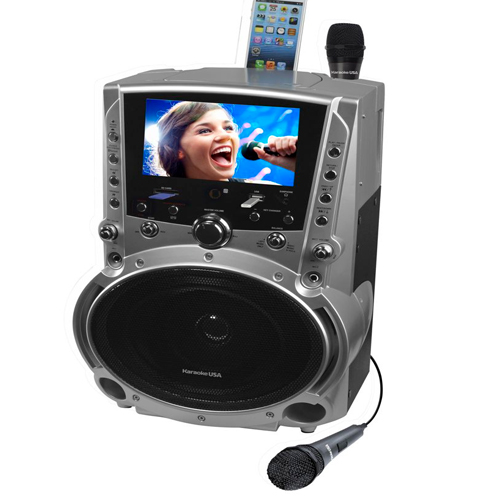 Emerson GF757 DVD/CDG/MP3G Karaoke System with Color Screen