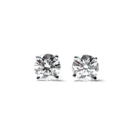 1 4 Ct Round Cut 14k White Gold Diamond Stud Earrings