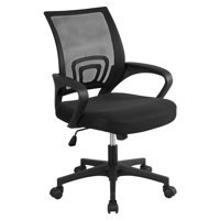 Topeakmart Mid-Back Height Adjustable Ergonomic Mesh Office Chair Computer Chair with 360Rolling Casters Black