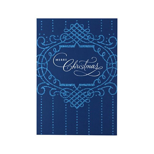 DaySpring Merry Christmas Lettering Blue Card