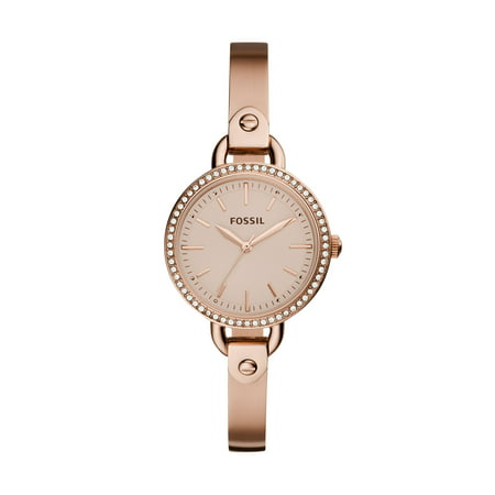 Fossil Women's Classic Minute Rose Gold Tone Stainless Steel Watch (Style: BQ3163) ()